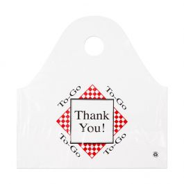 BAGS TAKE OUT WHITE THANK YOU PLASTIC 250/CS 19x10x19 1MIL