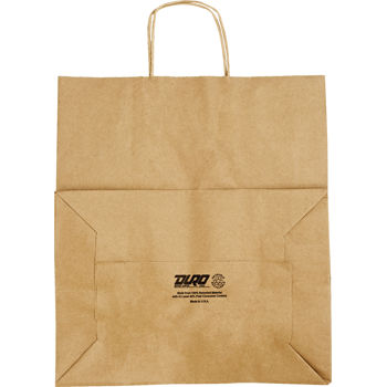 BAG KRAFT #70 W/HANDLE 200CT 14X10X15.75 87145